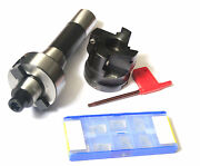 R8 Fmb22 Arbor +400r 50mm Face Mill Cutter And 10pcs Inserts [sn-t]