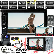 2din Car Stereo Dvd Cd Aux In Touch Screen Player Headunit W/ Free Backup Camera