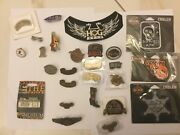 Lot Of 26 Pieces Harley Davidson Motorcycle Metal Emblem And Other