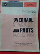 Vintage Continental Aircraft Engine Engines Overhaul Manual And Parts Catalog