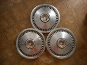 Mercury Cougar Vintage Hubcaps 70 To 76 70and039s As Is As Found Model Lot Of 3