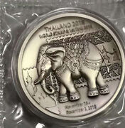 Thailand 2018 International Stamp Expo 60g Antiqued Silver Medal Coa