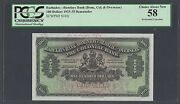 Barbados -barclays Bank 100 Dollars 1922-35 Ps103r Specimen About Uncirculated