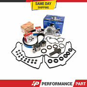 Timing Belt Kit Water Pump W/o Pipe Valve Cover Gasket For Toyota 3.4l 5vzfe