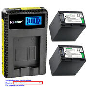 Kastar Lcd Charger Battery Fo Sony Np-fh100 And Sony Hdr-sr10 Hdr-sr100 Hdr-sr11
