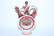 Russian Imperial Lomonosov Porcelain Decanter Wine Kumanets Russia Gold Rooster