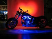 12 Pc Blue Neon Flexible Led Motorcycle Lighting Kit With Remote Control And Efx