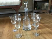 Toscany Hand-blown Crystal Wine Decanter And 6 Glasses, 8-piece Set ec