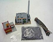 N Scale Model Train Railroad Lot Buildings Coverall Paint + Firehouse + Track