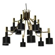 31.5 Dia. Mia Pendant 12 Cylindrical 2 Part Metal Shades Contemporary Bold