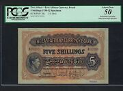 East Africa 5 Shilling 1-9-1943 P28s Specimen About Uncirculated