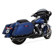 Vance And Hines 2-1 Pro - Pipe Black For Harley - Davidson Touring 17-19