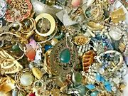 Vintage To Now 10 Lbs Costume Fashion Jewelry Lot No Junk