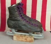 Vintage 1920s Winchester Black Leather Ice Skates Barney And Berry Antique Hockey