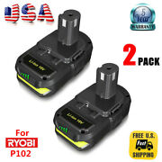 2x 18v P102 For Ryobi One Plus P103 Lithium Ion Battery P105 P122 18 Volt 24wh