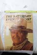 John Wayne March 1976 The Saturday Evening Post Magazine Collectible Eps19674