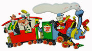 Vintage Disney Train Childrenand039s Pin-up Wall Hangers 1950s Casey Jr Dolly Toys