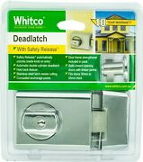 Whitco Double Cylinder Deadlatch Hold Back Feature, Bright Chrome Aust Brand