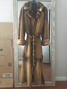 Gorgeous Full Length Russian Mink Coat Value 9000 Price 1599. Size S/m