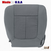 2011 - 2014 Ford F150 Driver Side Bottom Replacement Cloth Seat Cover Steel Gray
