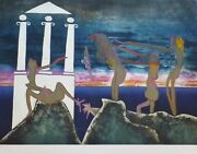 Roberto Matta 10 Pm Land039arc Obscure Des Heures Etching/aquatint Hand Signed Obscur