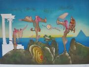 Roberto Matta 5 Pm Land039arc Obscure Des Heures Etching/aquatint Hand Signed Obscur