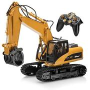 R/c Construction Excavator Vehicle Tractor Remote Control Metal Fork Toy Kid Rc