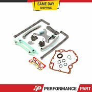 Timing Chain Kit W/o Gears Timing Cover Gasket For 99-08 Dodge Jeep Chrysler 4.7
