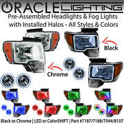 Oracle Halo Headlights And Fog Lights For 09-14 Ford F150 And Raptor All Colors