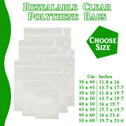 Xx Large Grip Seal Zip Lock Polythene Resealable Clear Plastic Bags 1-100000