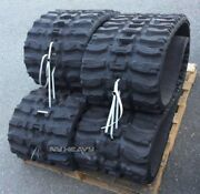 Two Rubber Tracks Fits Ihi Cl45 450x86x56 18 Q Tread Free Shipping