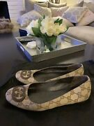 Monogram Canvas Flats In Size 36.5 7 Us