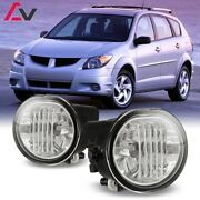 03-08 For Pontiac Vibe Clear Lens Pair Bumper Fog Light Lamp Replacement
