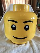 Large Yellow Lego Man Head Container. Discontinued. Very Rare
