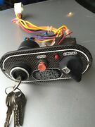 01 Glastron Sx 195 Black Carbon Boat Ignition Switch Panel Blower Horn Key A308