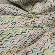 New Multicolour Small Chevron Pattern Woven Quality Upholstery Furnishing Fabric