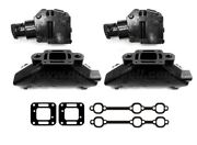Cast Iron Mercruiser 4.3 V6 Exhaust Manifold And Riser Kit Package Elbow Mercury