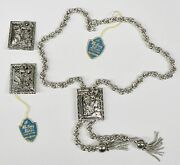 Vintage Whiting And Davis Bolo Necklace And Clip On Earrings Costume Jewlery