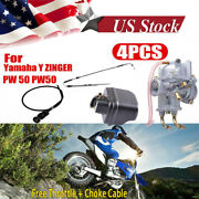 For Yamaha Y Zinger Pw 50 Pw50 Carburetor Air Filter And Throttle Choke Cable Carb
