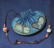 Antique Chinese China Qing Silk Embroidery Gold Silver Pouch Purse Kesi 19thc