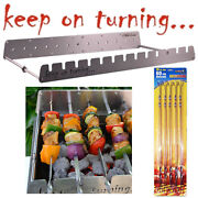 13 Skewer Rotating Bbq Grill Accessory Rack Motor Operated Stainless Steel