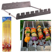 7 Skewer Automatic Rotating Rotisserie Rack With Usb Port Bbq Barbecue Grill