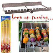 14 Skewer Motor Operated Rotisserie Rack Accessory W/ Usb Port For Gas Grills