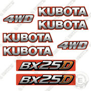 Kubota Bx 25 D Decal Kit Backhoe Tractor Decals Bx25d - 7 Year Vinyl