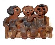 Rare Marilyn Fox American Modernist Abstract Signed Ceramic 3 Gossiping Ladies