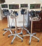 Welch Allyn 6200 W Bp, Temp, Pulse Ox, Ecg Power Supply And Cart- Tested