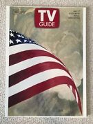 Al Hirschfeld Signed 16x22 Stretched Canvas American Flag Tv Guide Rare Jsa