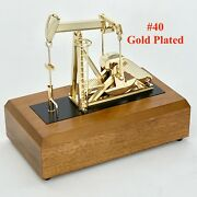 Oilfield Pump Jack Model Gift Pumping Unit Collectible Keychain Drill Bit Oil