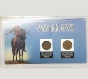 19th And 20th Century Indian Head One Cent Pennies 1892 And 1901- Fast Shipping