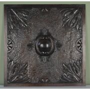 Large Antique 19th Century English Architectural Salvaged Hand Carved Oak Panel